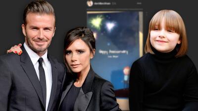 David y Victoria Beckham celebran 20 años de casados con un divertido regalo de su hija Harper