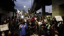 Masiva protesta para exigir justicia por el desplome de la línea 12 del metro en Ciudad de México