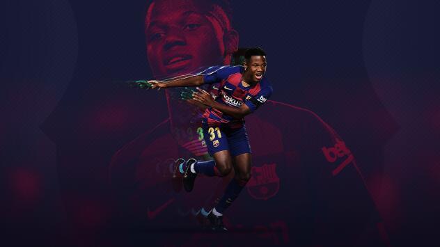 Ansu Fati, el gol más joven en la historia de la Champions League