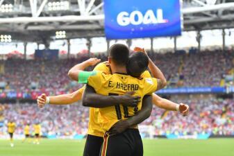 En fotos: una poderosa Bélgica goleó 5-2 a Túnez con dobletes de Lukaku y Hazard