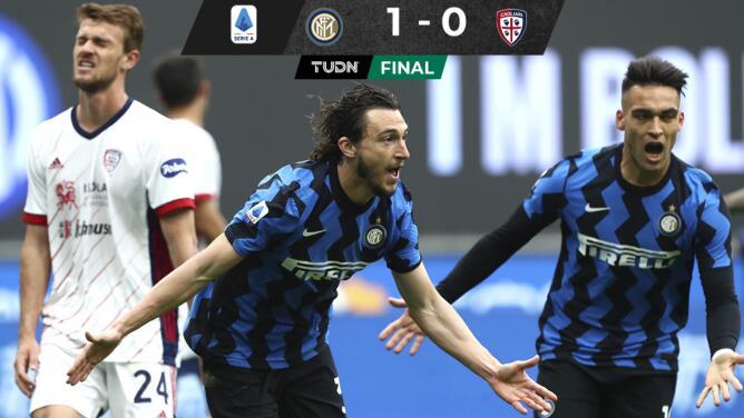 Inter vence al Cagliari y acaricia el Scudetto