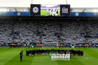 En fotos: Leicester City le rindió el último homenaje a su presidente fallecido