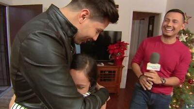 Luis Coronel sorprendió a una pequeña niña sobreviviente de cáncer con el más tierno regalo de Navidad