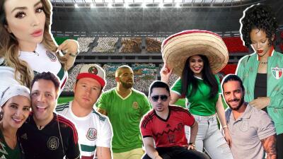 EN FOTOS: Famosos que apoyan a la Selección Mexicana 🇲🇽⚽️