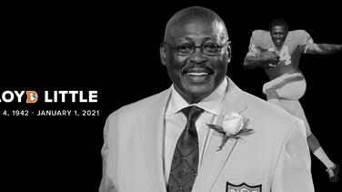 Muere Floyd Little, leyenda de los Broncos