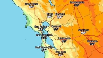 Nueva ola de calor en el Área de la Bahía: el termómetro podría subir hasta 100° F este fin de semana