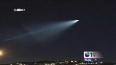 Luz misteriosa en el cielo de Sacramento