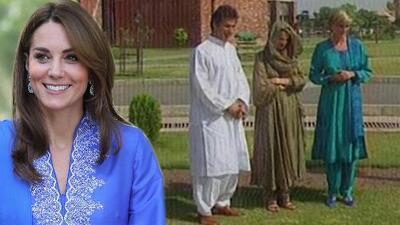 Kate Middleton lo vuelve a hacer y por segundo día consecutivo recuerda los pasos de Lady Di en Pakistán