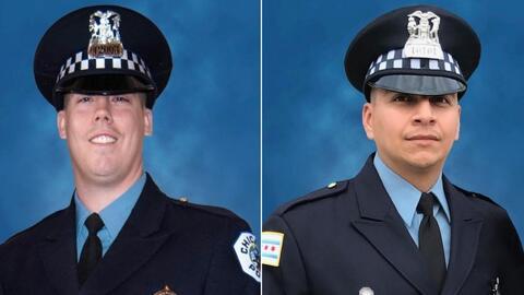 Fijan fecha para servicios fúnebres de dos policías de Chicago que murieron arrollados por un tren