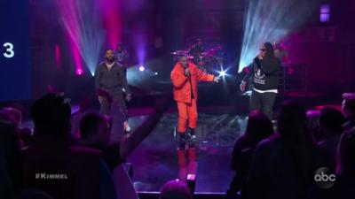 J Balvin was on Jimmy Kimmel featuring Zion & Lennox