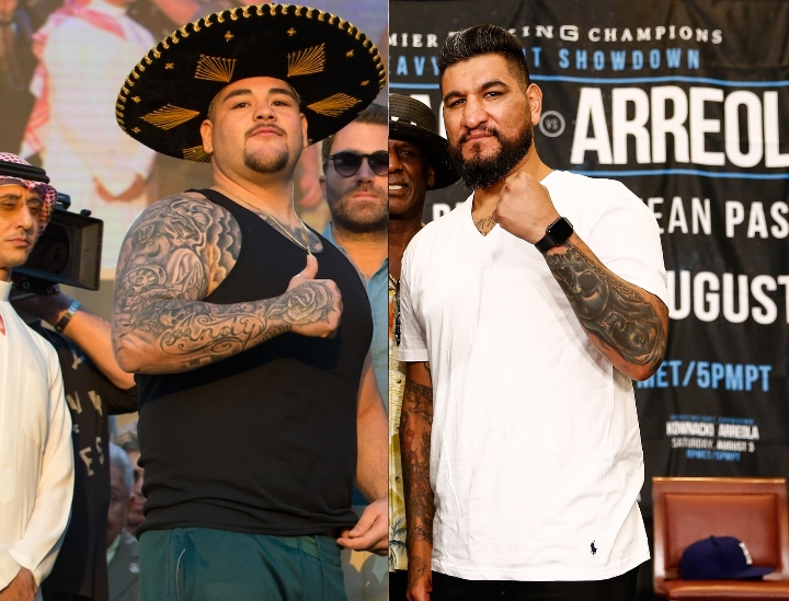 Andy Ruiz enfrentará este sábado Chris Arreola y el Canelo Álvarez espera que su compañero acabe temprano con el 'Noghtmare' Arreola.