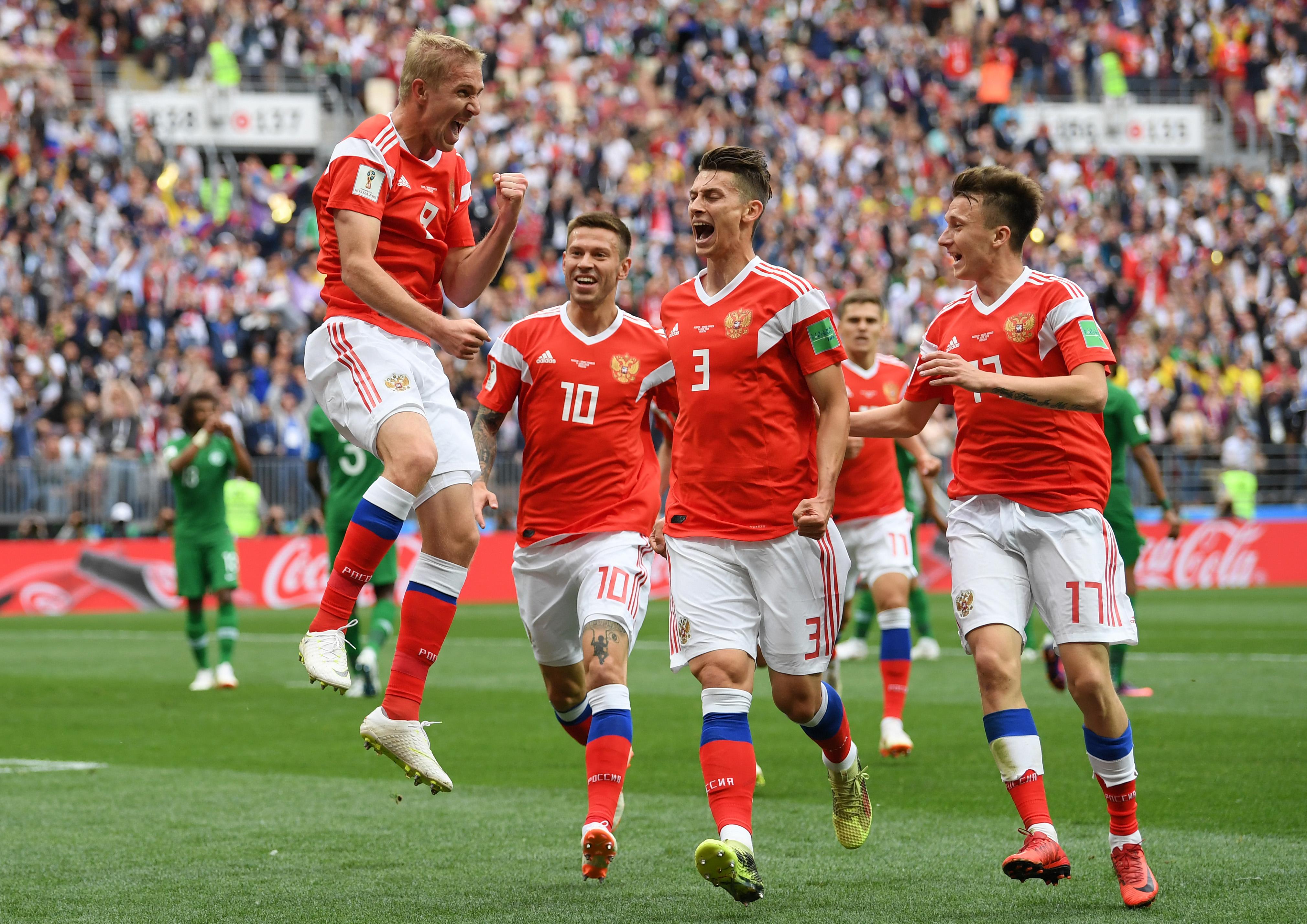 En fotos: así fue el primer gol del Mundial de Rusia 2018