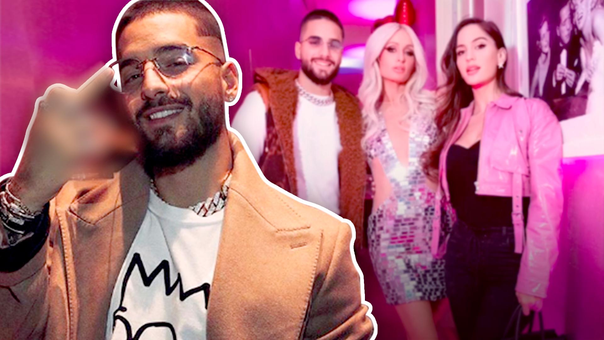 Tras celebrar con Paris Hilton, Maluma anuncia de esta forma el estreno de 'HP'