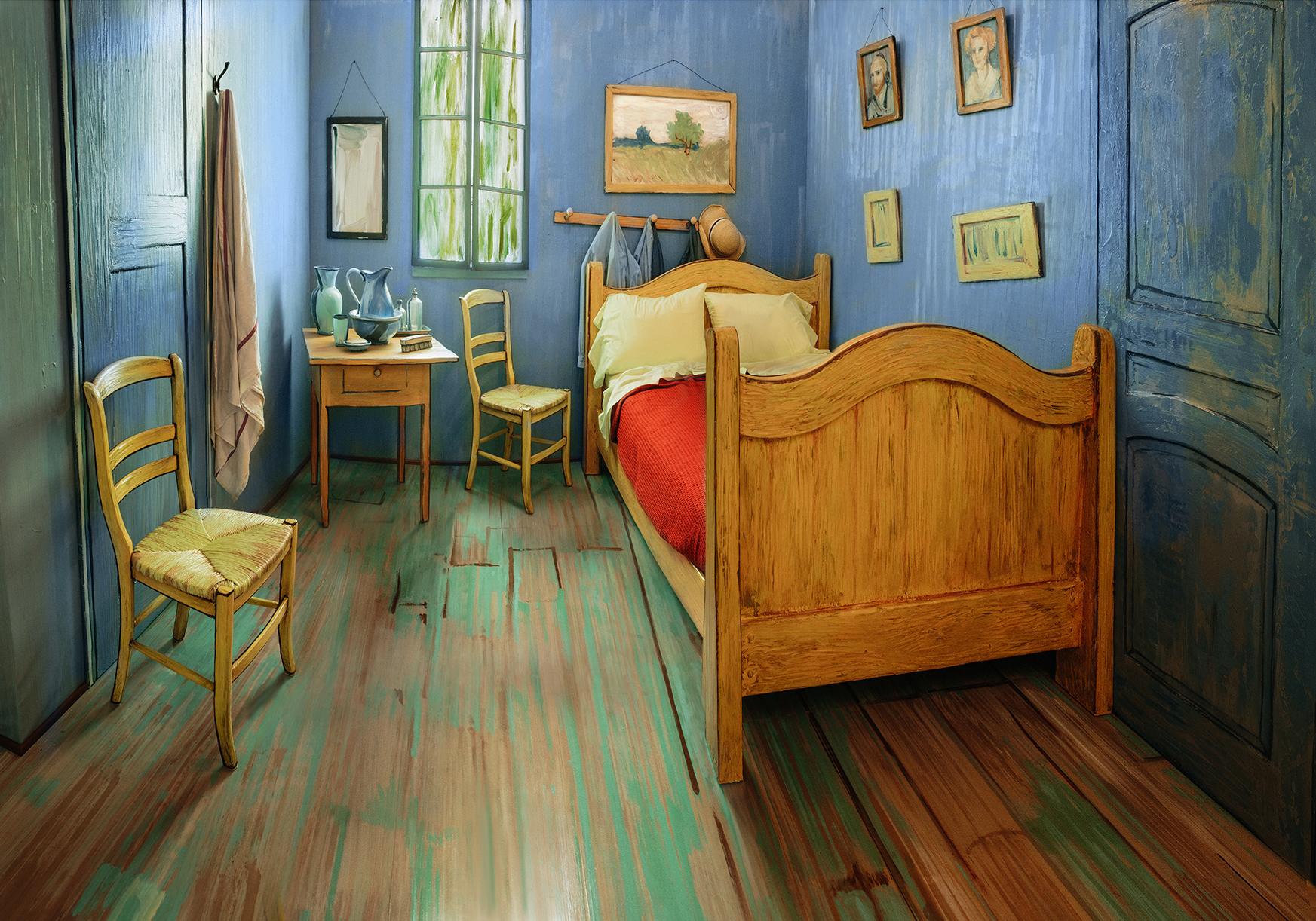 Así luce el cuarto inspirado en cuadro de Van Gogh que está en