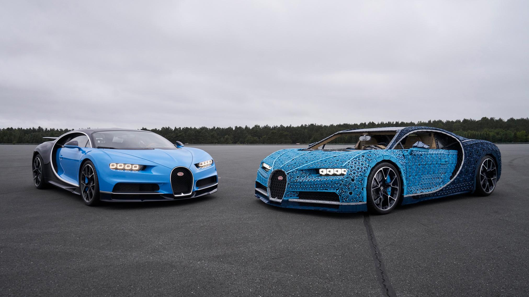 ¿Un Bugatti Chiron fabricado por piezas de Lego que se puede conducir?