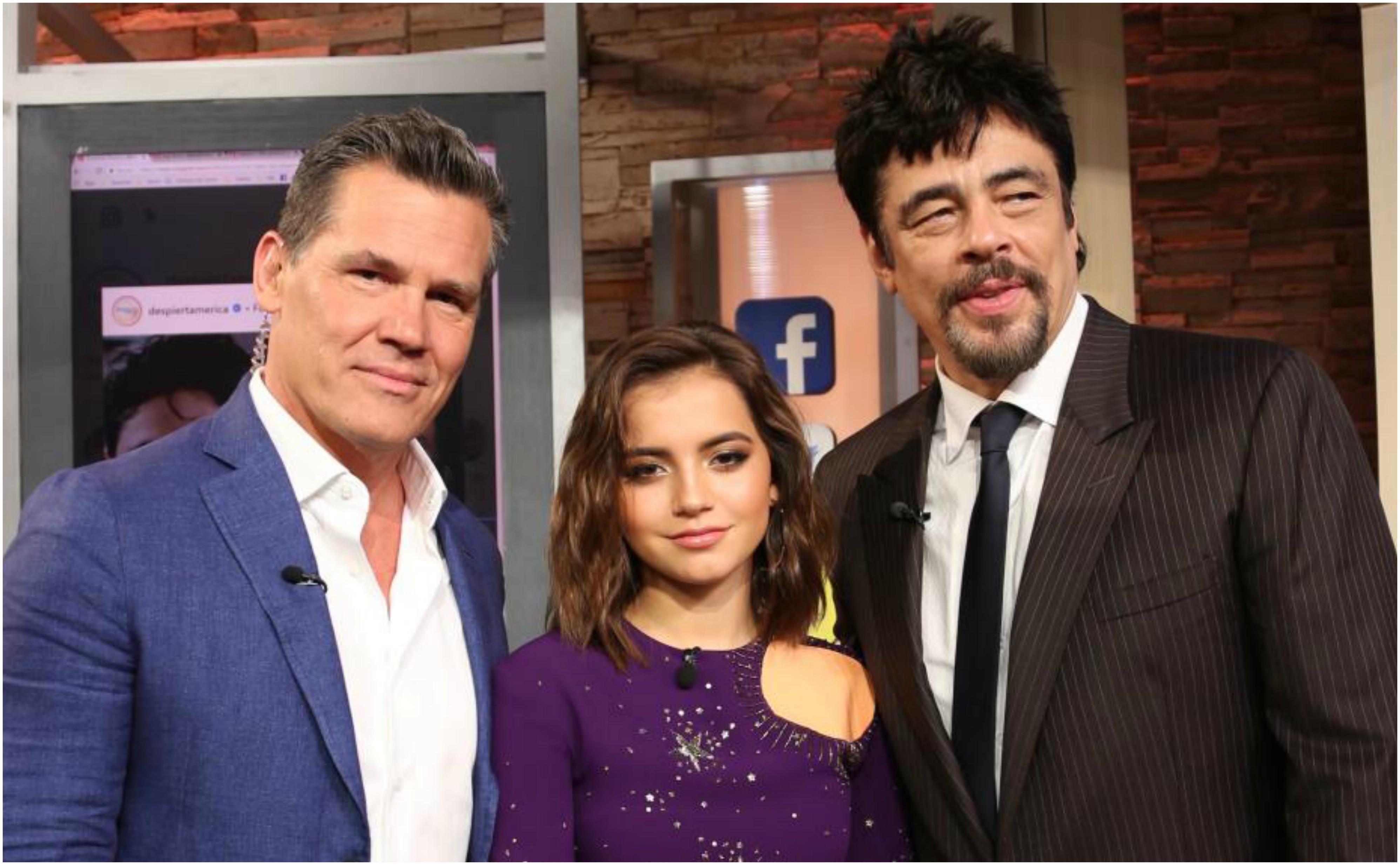 En fotos: Benicio del Toro, Isabela Moner y Josh Brolin en Despierta América