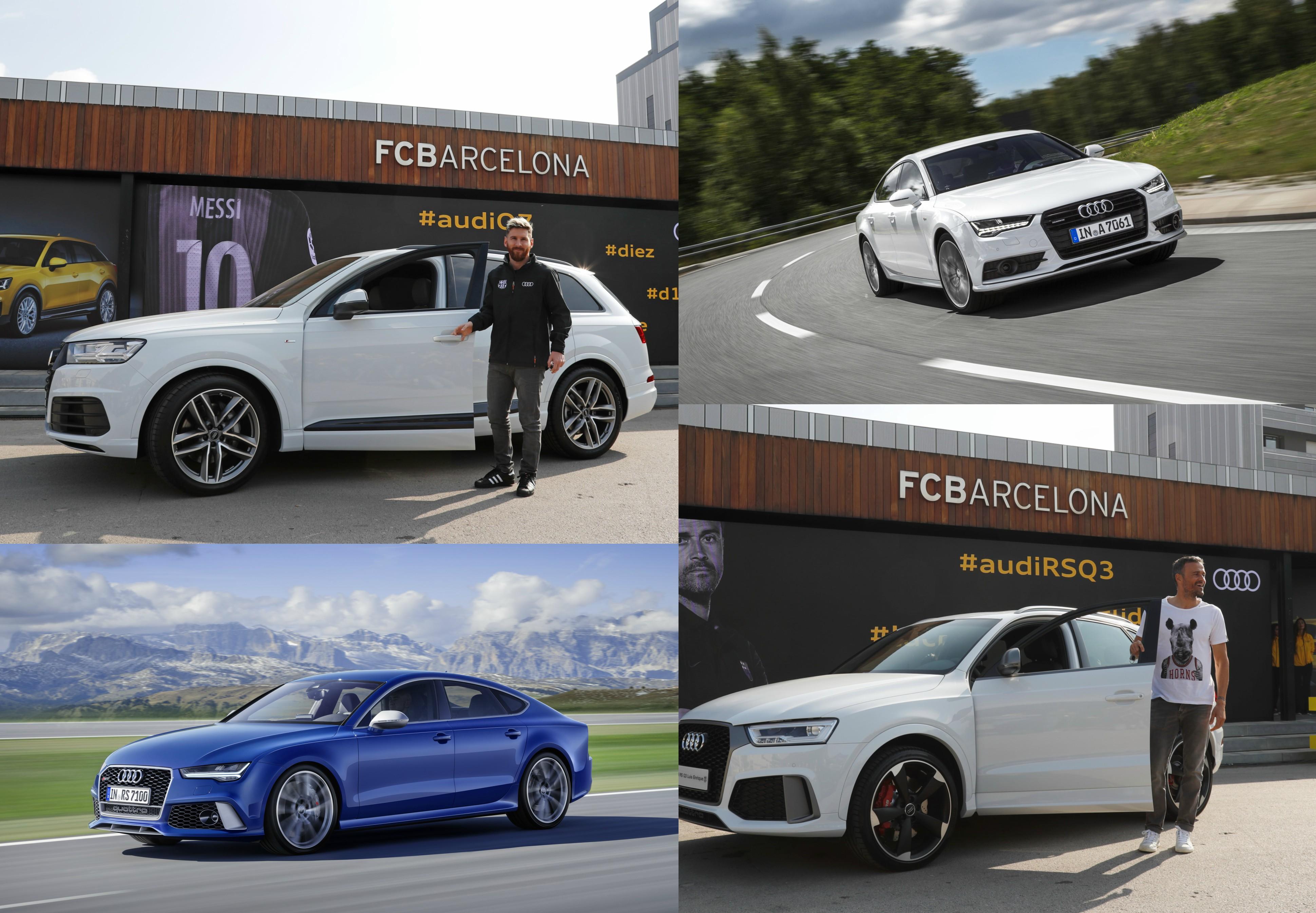 Audi entregó sus nuevos autos a las figuras del Barcelona