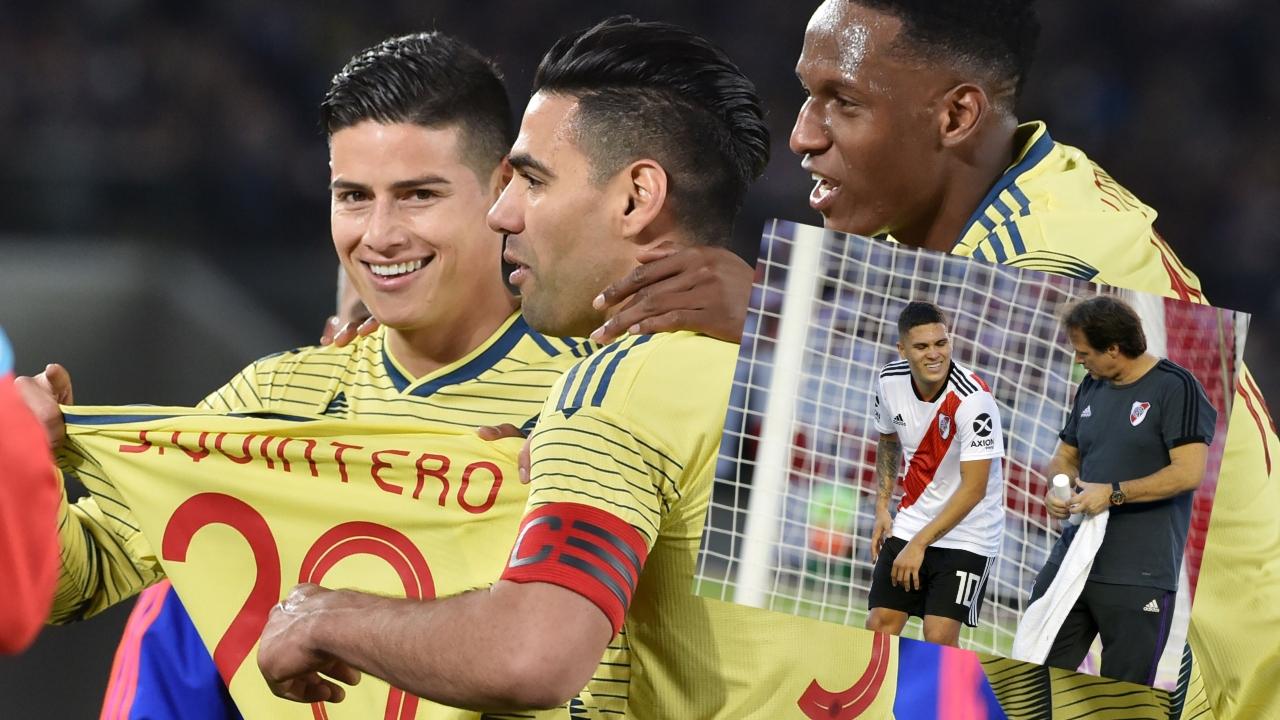 Los jugadores de Colombia y la especial dedicatoria en el gol ante Japón